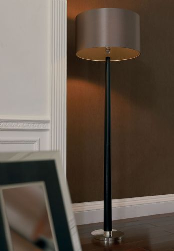 Rubber Oak Woodstick Floor Lamp CHASSELAS